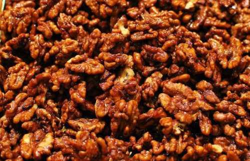 Calorías de las nueces garrapiñadas o caramelizadas