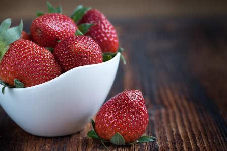 Calorias por cada taza de fresas
