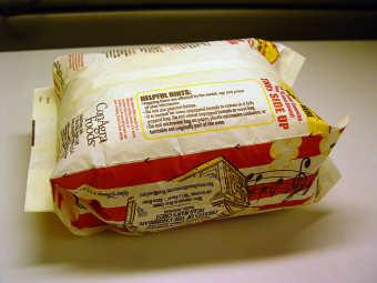 Calorías de bolsa de palomitas para microondas