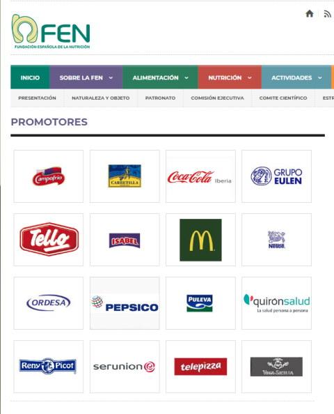 Promotores de la Fundación Española de Nutrición