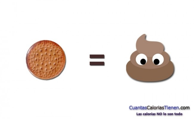 Las galletas son comida basura
