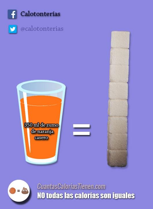 El zumo casero tiene mucho azúcar libre