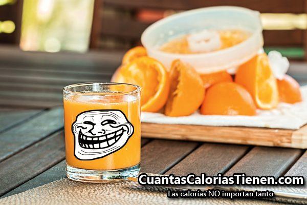 El zumo no es fruta