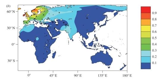 Mapa de persistencia de la lactasa