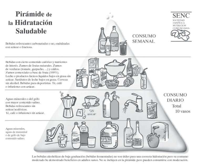 Piramide de la Hidratación Saludable de la SENC
