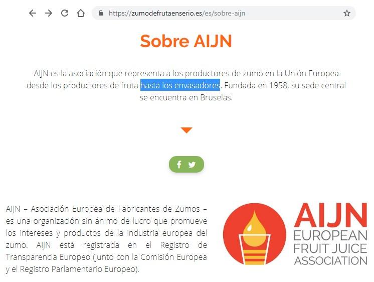 Asociacion Europea Fabricantes Zumos - AIJN