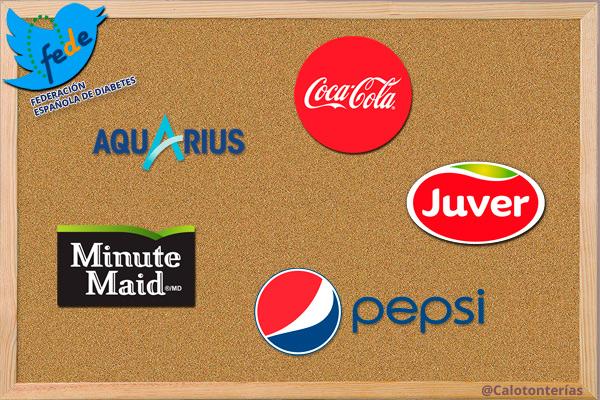 El Twitter de la Federación Española de Diabetes parece el panel de anuncios de marcas como Coca-Cola y Pepsi