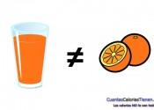 Los zumos naturales de fruta ni son sanos ni son naturales